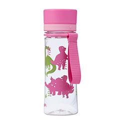Trinkflasche AVEO 0,35L mit Kids-Motiv Rosa Dino